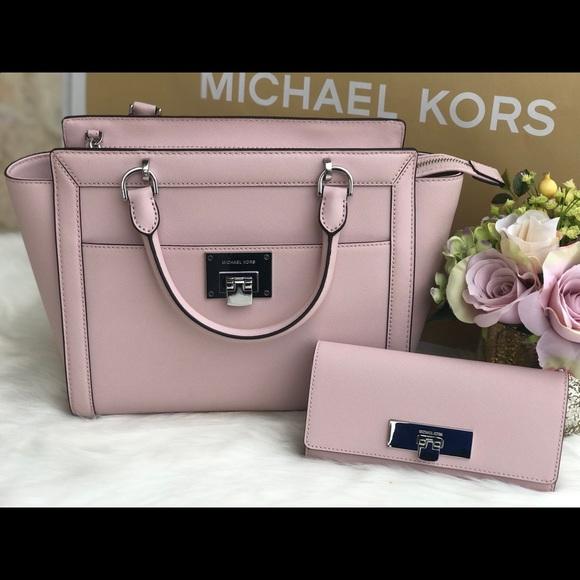 a159abeab45c Michael Kors Bags | Large Tina Blossom Satchel Tote Set | Poshmark